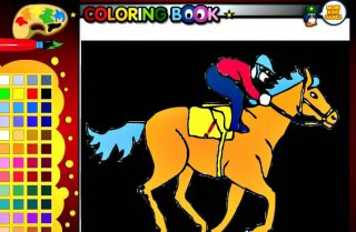Race Horse Coloring Facebook Game for KidsHorse Games