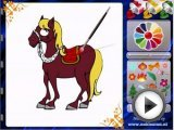 Colour the horse - Paining Games