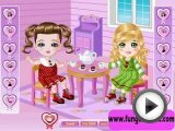 Doll House dress up game for girls