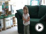 Funny Barbie girl toddler dance video