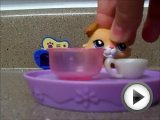 Littlest pet shop cooking pizza.